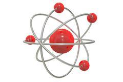 Atom, 3D rendering Stock Illustration