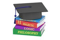 Philosophy education, 3D rendering Stock Illustration
