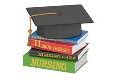 Nursing education concept, 3D rendering Piirros
