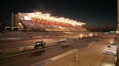 Circuit of the Americas Night Race Pan Stock Footage