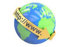 Global internet communication concept, 3D rendering Stock Illustration