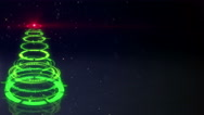 Green sci-fi christmas tree loopable animation 4k (4096x2304) Stock Footage
