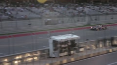Car Driving By at Circuit of the Americas Stock Footage