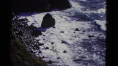 1952: seaside INTERNATIONAL WATERS Stock Footage