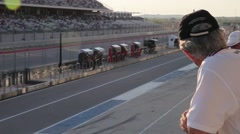 Man Watching Race at Circuit of the Americas Stock Footage