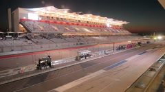 Night Race at Circuit of the Americas Stock Footage