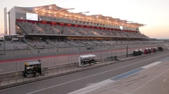 Dusk at Circuit of the Americas Stock Footage