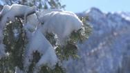 Winter mountain landscape Stock Footage