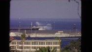 1966: a view of the beautiful ocean with ships in the harbor CATALINA Stock Footage