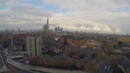 Aerial view of London Shard Stock Footage