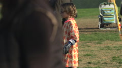 Boys ages 6 to 8 playing in a youth soccer league game. Stock Footage