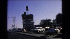 1966: a large sign in a parking lot as seen from a moving vehicle CATALINA Stock Footage