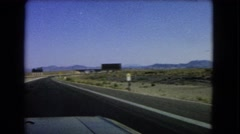 1966: a drive through an isolated highway on a clear and sunny day. CATALINA Stock Footage