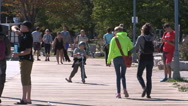 Toronto eastern beaches boardwalk Stock Footage