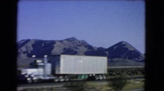 1966: a beautiful mountain ridgeline as seen through the window of a moving car Stock Footage