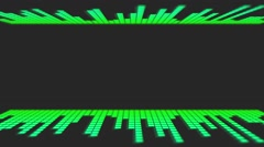 Green Dancing Audio Music Bars with room for title Stock Footage