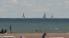 Summer at the Toronto eastern beaches Stock Footage