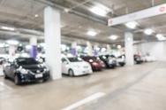 Abstract blur car parking lot Stock Photos
