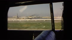 1966: driving down interstate highway looking through car out side window  Stock Footage