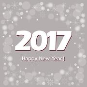 New year`s banner  2017 on grey Piirros