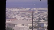 1966: the ocean in the distance as seen from the patio of a home CATALINA Stock Footage