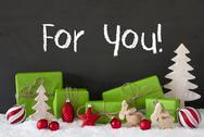Christmas Decoration, Cement, Snow, Text For You Stock Photos