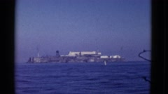 1952: alcatraz island on a cloudless day SAN FRANCISCO, CALIFORNIA Stock Footage