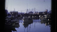 1952: fishing boat returning to a harbor SAN FRANCISCO, CALIFORNIA Stock Footage