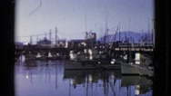 1952: a boat is seen SAN FRANCISCO, CALIFORNIA Stock Footage