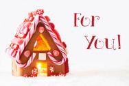 Gingerbread House, White Background, Text For You Stock Photos
