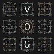 Set Logos and Ornament Stock Illustration
