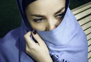 Young arabian woman in hijab. Yashmak Stock Photos