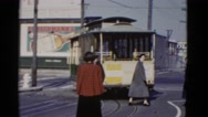 1952: a tram is seen SAN FRANCISCO, CALIFORNIA Stock Footage