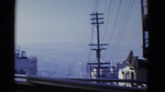 1952: a city urban street as seen from a moving vehicle SAN FRANCISCO, Stock Footage