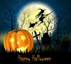 Halloween spooky background Stock Illustration
