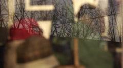 Irish-American gift shop window Stock Footage