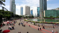Car Fee Day on Sudirman avenue in Jakarta as a time lapse Stock Footage