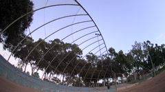 The backstop of a baseball diamond. Stock Footage