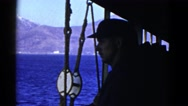 1952: a man is seen observing water SAN FRANCISCO, CALIFORNIA Stock Footage