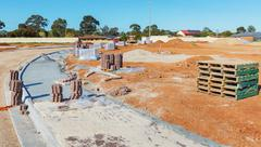 New sidewalk construction Stock Photos