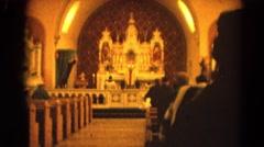 1964: a church area is seen RACINE, WISCONSIN Stock Footage