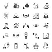 Vector Set of Icons Business Competition Stock Illustration