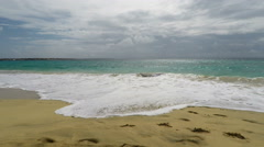 Tropical beach on cape verde islands Stock Footage