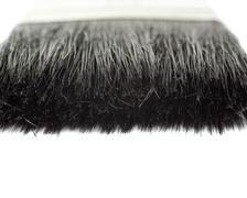 Paint brush bristle over isolated white background Stock Photos