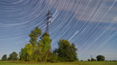 4K Time lapse Startrails Stock Footage
