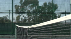Shot of the net on a tennis court. Stock Footage