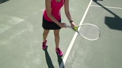 Women playing tennis. Stock Footage