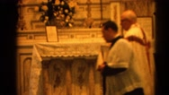 1964: religious ceremony takes place in a holy building RACINE, WISCONSIN Stock Footage