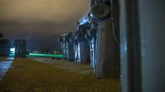 4K Stonehenge Replica of Cars in Carhenge, Nebraska Stock Footage