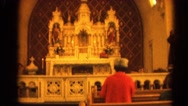 1964: the back of a church featuring elaborate and ornate details RACINE Stock Footage